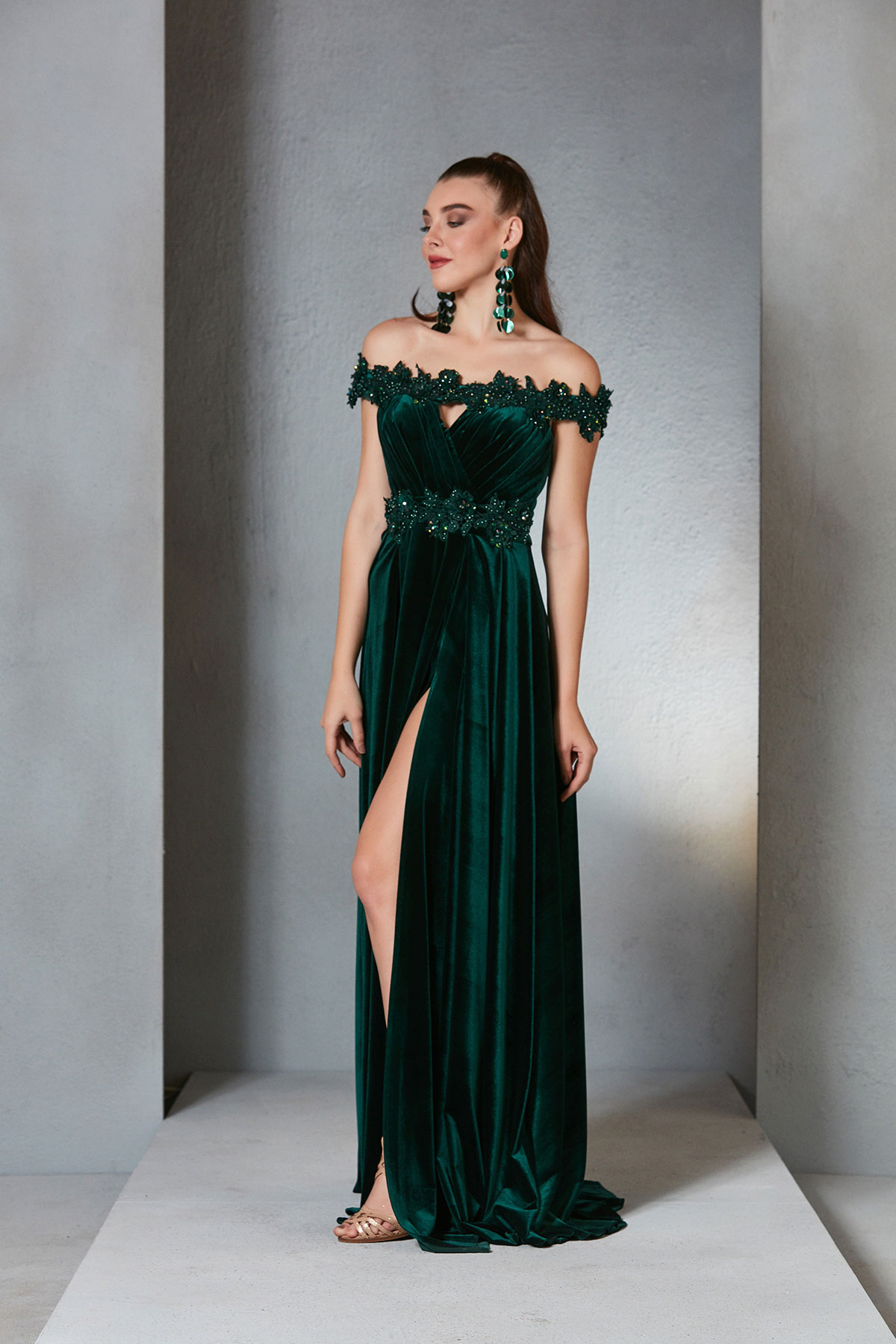What should be considered when choosing an evening gown?