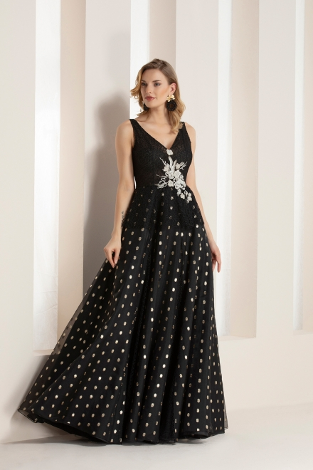 Spotty Evening Gown Dresses